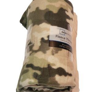 Walmart Camouflage Pattern Fleece Blanket